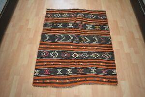 Kilim Rug 3.1x3.8 ,Turkish Rug,Floor Mat,Handmade Rug,Low Pile Rug,Antique Rug.