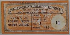 1954 Spanish Cup Final Valencia V Barcelona Match Ticket Estadio De Chamartin