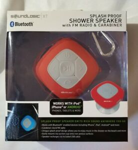 SHOWER SPEAKER SoundLogic XT Wireless Bluetooth Splashproof with FM Radio