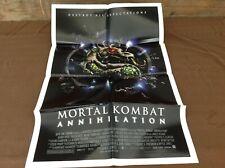 1997 Mortal Combat Annihilation Original Movie House Full Sheet Poster
