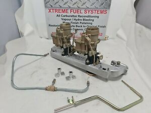 RECO X2 TWIN STROMBERG CARBS HOLDEN INTAKE FUEL LINES LINKAGE BXUV-2 PACKAGE