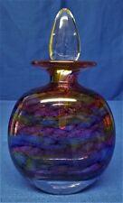 MARTIN ANDREWS STUDIO ART GLASS PERFUME SCENT BOTTLE - AURORA DESIGN FLAT OVAL