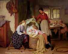 Children by Theodore Gerard Cottage Mother Brothers Sisters 8x10 Art Print 0649