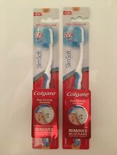 2X Colgate Slim Soft Ultra Compact Toothbrush   2 PACKS - NEW & SEALED - BLUE