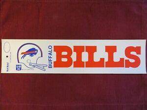 BUFFALO BILLS ** Vtg 70s Vinyl Bumper Sticker NFL Helmet Logo Banner RARE