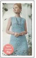 1970s Pretty Crochet Shift Dress Pattern  - Copy