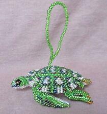 Native Zuni Made Beaded Turtle Multi-color Car Charm or Ornament M0095