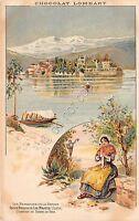 Cartolina - Illustrata - Chocolat Lombart - Isola Bella - Costume tradizionale