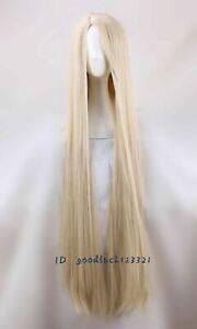 Movie Rapunzel Tangled Light Blonde 120cm Long Straight Cosplay wigs