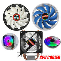 12V 3 Pin RGB LED CPU Cooler Fan Heatsink Radiator For Intel 775/1155/1151AMD