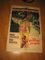 The Gamma People Original 1sh Movie Poster 1956 G-gun paralyzes nation,