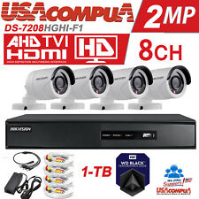 HIKVISION 8 CH SECURITY SYSTEM KIT 4 CAMERA BULLET,TVI/FULL 1080P/H264+/1TB HDD