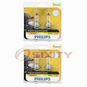 2 pc Philips High Beam Headlight Bulbs for Smart Forfour Fortwo Roadster uz