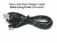 IP67 IP68 Micro USB Data Charger Cable Lead w/8mm Extra Long Connector
