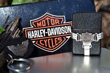 Zippo Lighter - Harley Davidson - Bootstrap Keyholder - Key Ring - 236HD H216