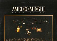 AMEDEO MINGHI disco LP 33 giri IN CONCERTO.1990 Made in ITALY + inner
