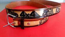 "XMAS 4 X 4 JEEP Leather Belt &  Buckle (28""-54"" waist) New  XMAS DELIVERY!"