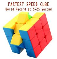 "Stickerless Speed Cube, fastest 3x3 magic cube, set World record 5.25"""
