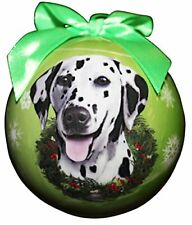 """Dalmatian Christmas Ornament"" Shatter Proof Ball Easy To Personalize"