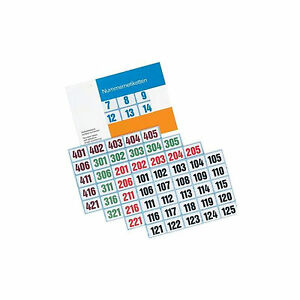 Numbers - Labels 1000-2000, 16,9 MM X 25,4 MM Ve 100 Labels Blue Count
