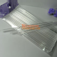 "50pcs 6"" x 5/32"" Crystal clear lollipop sticks for cake pops Lollipop candy"