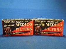 Lot of 2 Medico Filters Boxes for Medico Pipes & Holders to Filter Smoking.