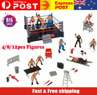 Wrestling Ring Playset With 4-12 Figure Kids Action wwe raw smack down Ring Toy