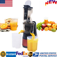 Slow Juicer with Compact Design Easy to Clean Vegetables and Herbs Red 150 Watt GEVI Slow Masticating Juicer with Slow Masticating Squeezer Technology for Fruits