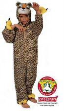 NEW* Kids Safari Plush Full Body Hooded Cheetah Costume