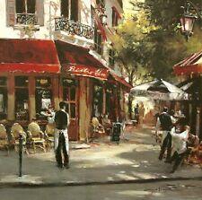 Brent Heighton: Bistro Waiters Keilrahmen-Bild 50x50 Leinwand Strassencafe