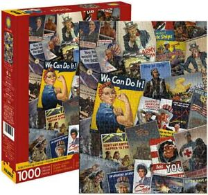1000 piece Retro Smithsonian WAR POSTERS Jigsaw Puzzle Licensed by AQUARIUS
