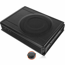 NVX QBUS8v2 Slim Powered Under Seat 8 Car Subwoofer Enclosure Box with Amplifier
