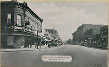 Street View Old Cars Lake's Drug Store Florence South Carolina SC Postcard A17