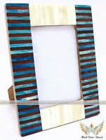 Handmade Bone Inlay Photo Frame Multi Colour Picture Frames Best Gift Item