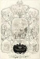 DRESDEN - VOGELWIESE - JAHRMARKT - Joerdens - Holzstich 1860