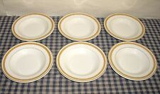 Syracuse China Barclay Hotel New York Wide Rim Bowls Gold Encrusted set of 6