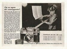 W2693 ZEISS IKON Contax III - Che ne sapete del contrappunto? - Pubblicità 1940