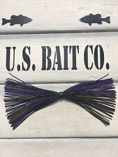 Bass Jig Skirts Living Rubber Lot Of 10 Color Black Pumpkin And Purple