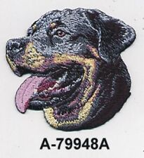 """2 1/2"""" x 2 3/4"""" Rottweiler Dog Breed Portrait Embroidery Patch"""