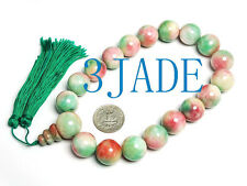 Jade Prayer Beads Mala 18mm Huge Tibetan 18 Colorful
