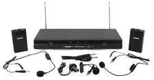 Mason VX-504 Dual Channel Wireless Headset Microphone System and Bonus Lapel NEW