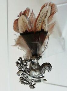 Insigne épinglette métal Écureuil et plumes d'Oiseau INSEL-MAINAU Allemagne