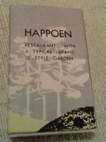 Happoen Restaurant Matchbook Cover Box Japanese Style Garden Vintage Antique Old