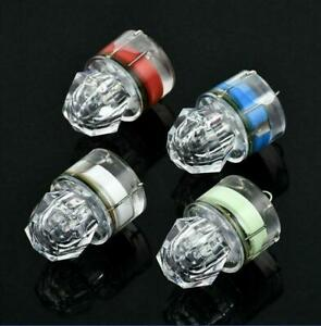 4pc LED Deep Drop Sea Underwater Diamond Fishing Flashing Light Bait Lure Strobe