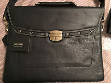 NEW! -- Made in Italy -- Neri Karra Leather Briefcase / Tote -- Free Shipping!