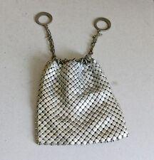 "Silver tone mesh draw string ""steam punk"" purse"