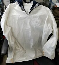 Chinese-Navy White Military Service Uniform, White Tunic+Black Pants
