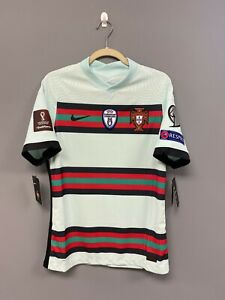 NIKE Portugal 2020 Vapor Knit Match Away Mint Soccer Jersey Medium Player Issue