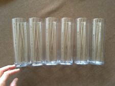 Libbey Crystal Highball Glasses Straight-Sided 10oz. Tall Glasses Set Of 6