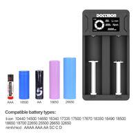 2-Slot USB LCD Li-ion Ni-Mh Battery Charger Recharger for 3.7V 10440 18650 26650